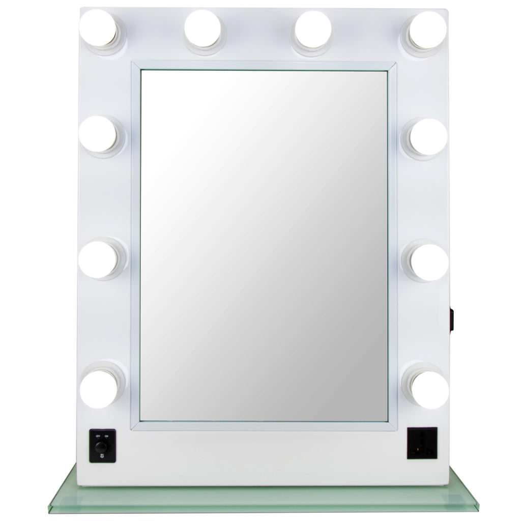 Biffi Hollywood Vanity Makeup Mirror with 10 LED Lights by Ver Beauty - eBest Makeup Cases