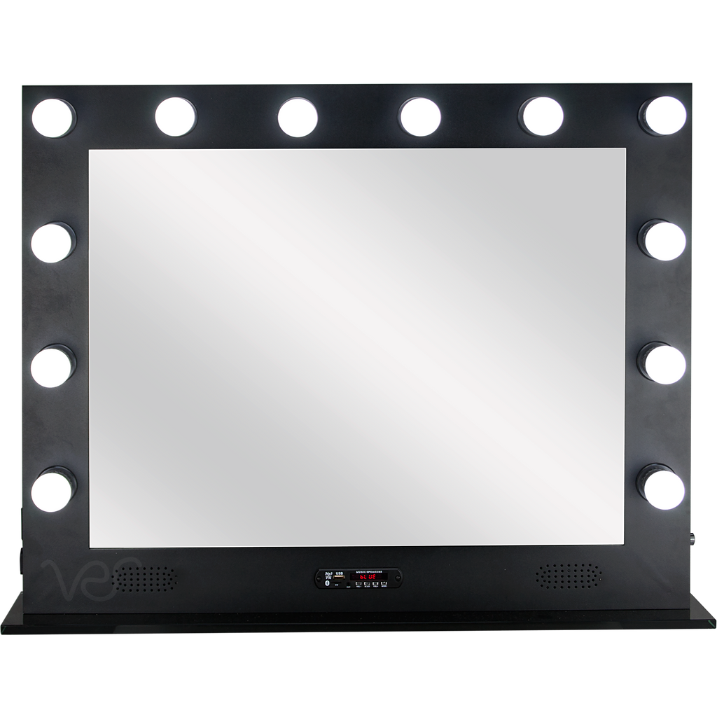 Savio Hollywood Vanity Mirror with 12 LED lights  by Ver Beauty-VL004 - eBest Makeup Cases