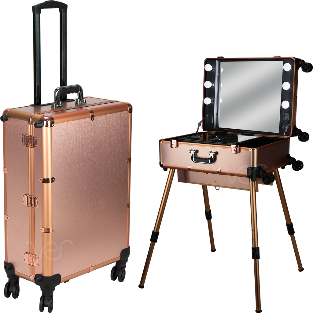Spada Rolling Makeup Case Studio by Ver Beauty-VL7301 - eBest Makeup Cases