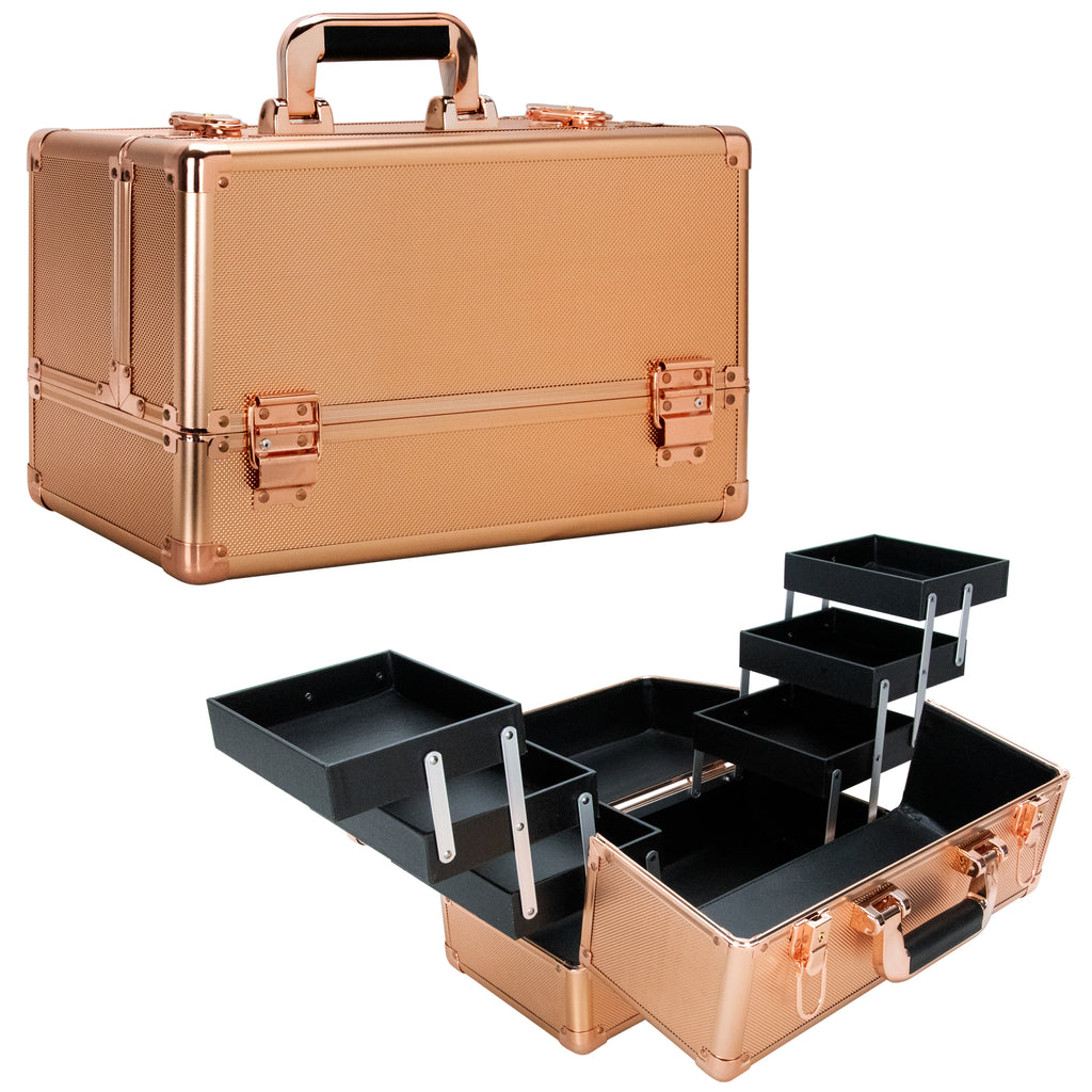 Michiel Train Makeup Case with Six Extendable Trays-VK3203 - eBest Makeup Cases