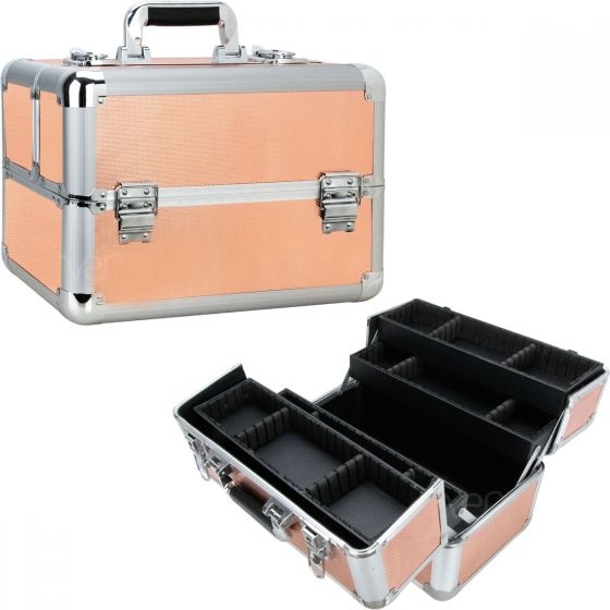 Felice Train Makeup Case with 4 Extendable Trays by Ver Beauty-VP007 - eBest Makeup Cases