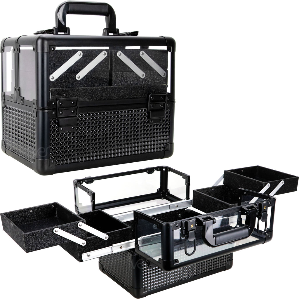 Zancani Train Makeup Case Organizer Ice Cube with 4 Extendable Trays-VP018