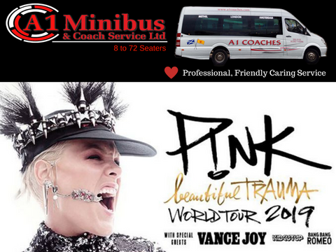 Transport to Pink Concert at Hampden Stadium Glasgow