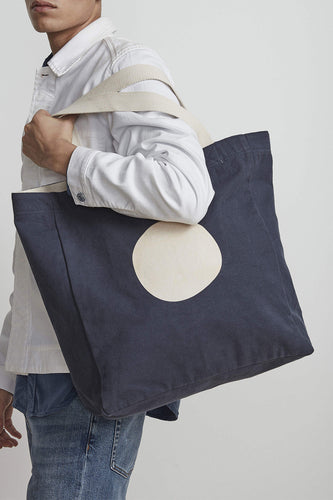 NN07 Organic Cotton Shopping Tote Bag (Indigo Blue)