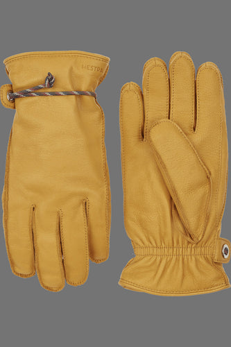Hestra Granvik Full-Grain Leather Gloves (Natural Yellow / Yellow)