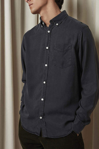 NN07 Levon Button-Down Collar Shirt (Black)