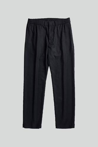 NN07 Foss Pinstripe Recycled-Polyester Trousers (Navy Blue)