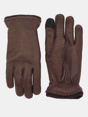 Hestra John Touchscreen Gloves (Dark Brown) 1