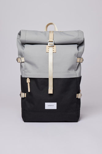 Sandqvist Bernt Backpack (Grey / Black) Front