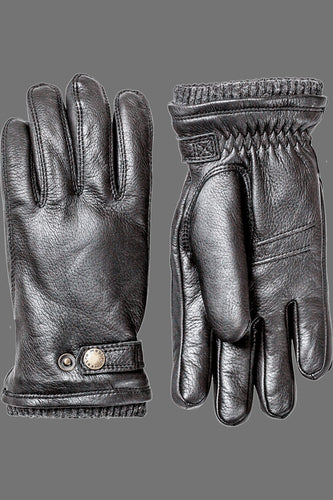 Hestra Utsjo Elk Leather Gloves (Black)