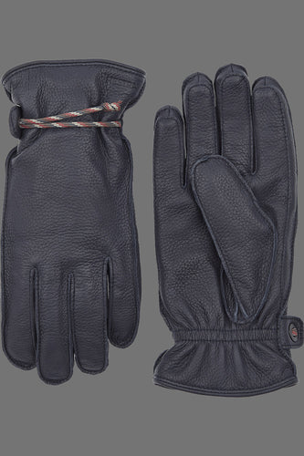 Hestra Granvik Full-Grain Leather Gloves (Navy / Navy)