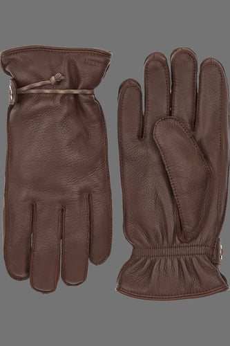Hestra Granvik Full-Grain Leather Gloves (Chestnut / Chestnut)