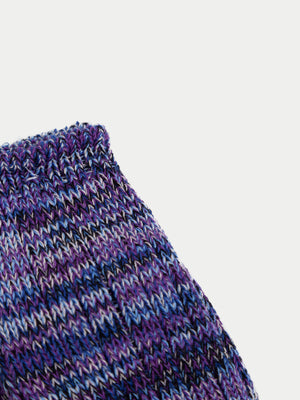 Anonymous Ism x Number Six 5 Colour London Mix Socks (Northern Purple) 2