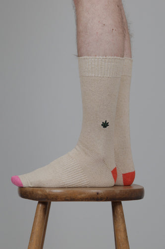 Anonymous Ism Go Hemp Weed Embroidered Crew Socks side