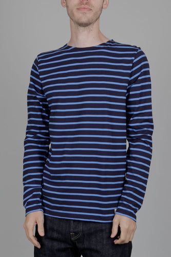 Armor Lux Long Sleeved Sailor Shirt (Navy & Lapis) Front