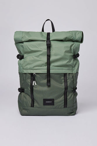 Sandqvist Bernt Lightweight Backpack (Dusty Green) Front
