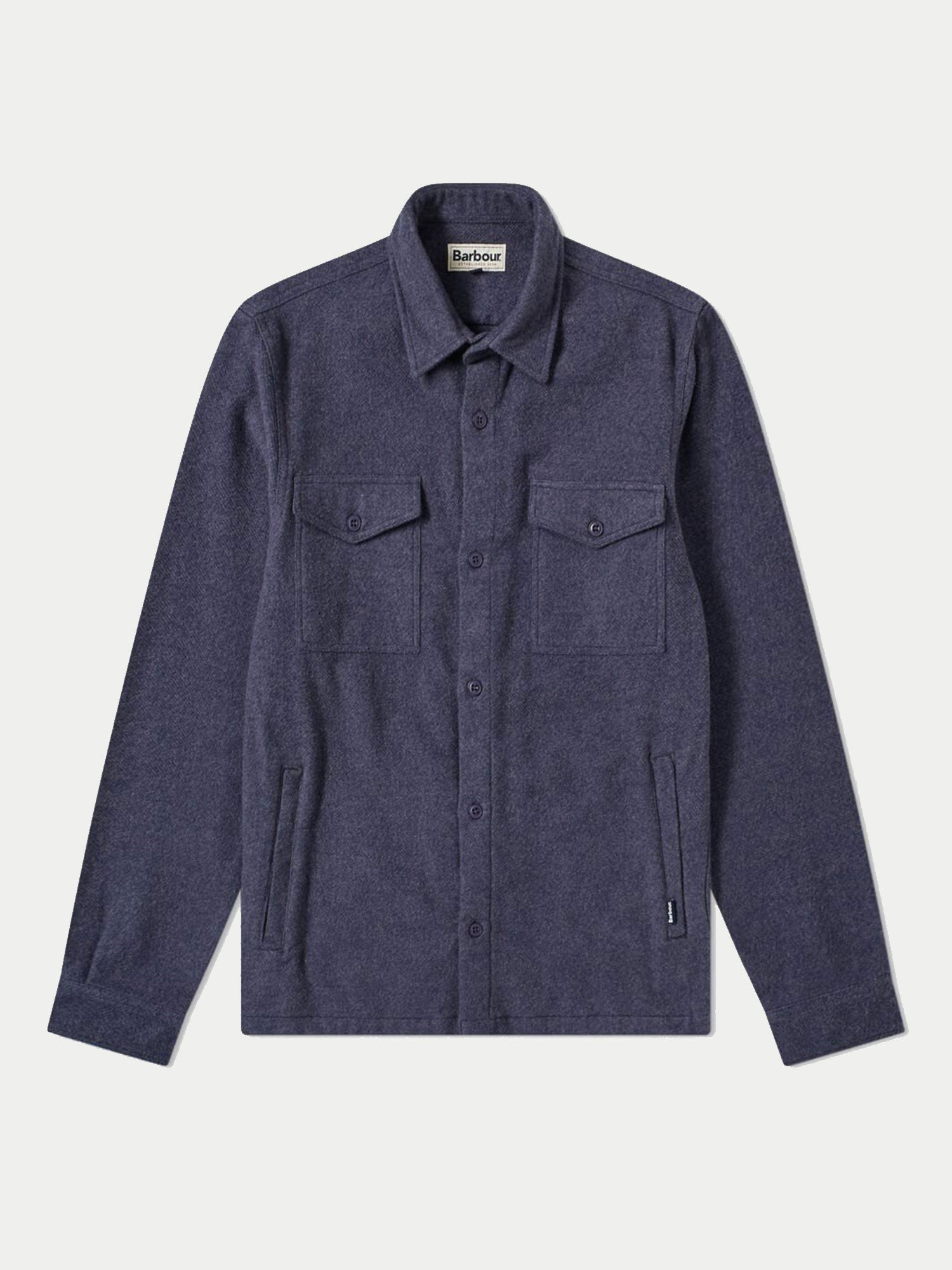 Barbour Brushed Twill Overshirt (Navy) 2