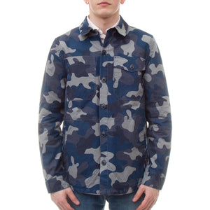 Barbour Camo Button Thru Shirt (Navy)-1