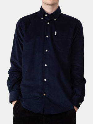 Barbour Cord Shirt (Navy) 1