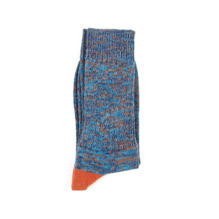 Barbour Deck Sock (Blue, Turquoise & Amber)