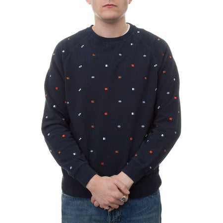 Barbour Flags Crew Sweatshirt (Navy)