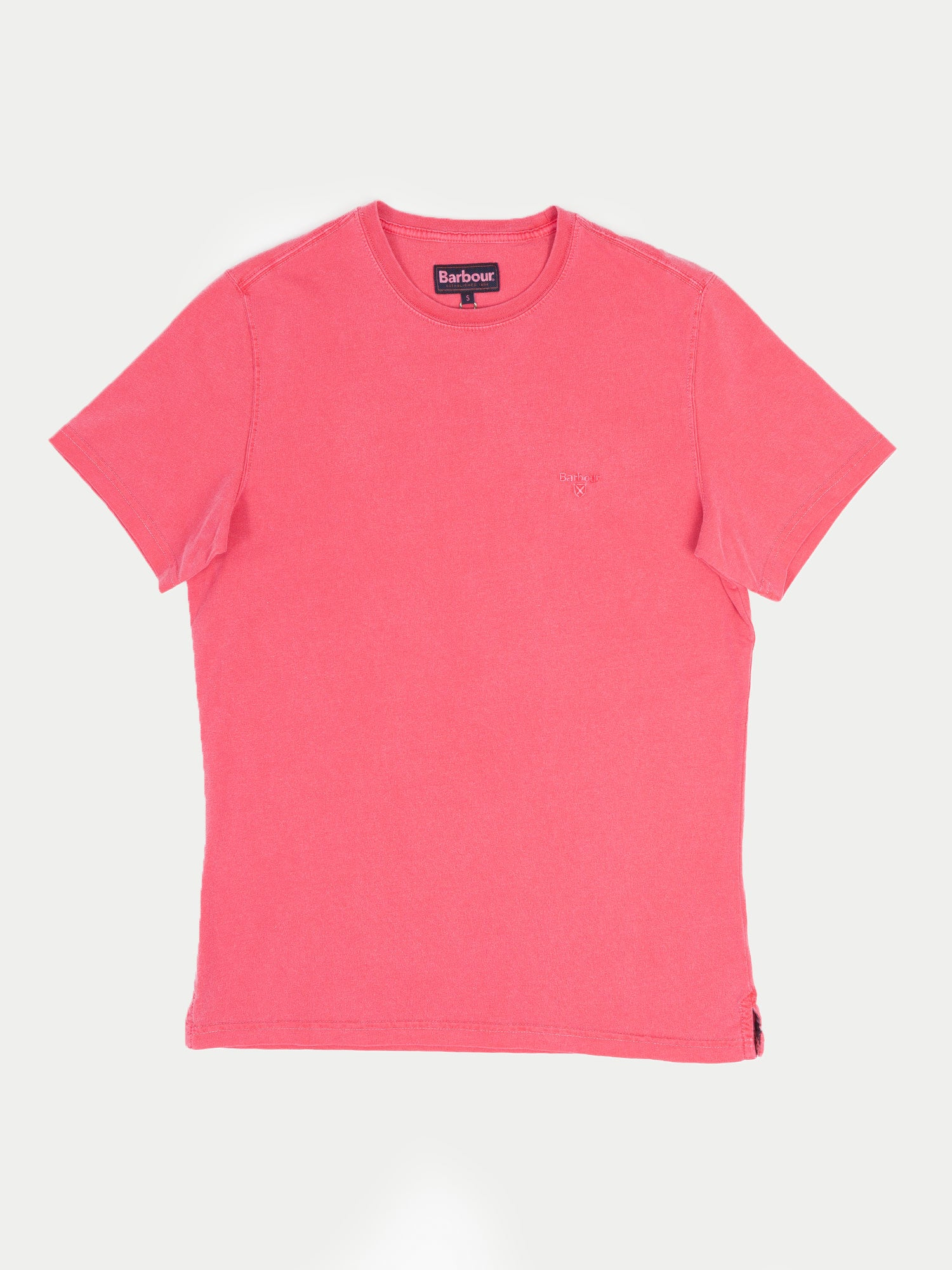 Barbour Garment Dyed T-Shirt (Fuschia)