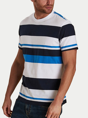 Barbour Longitude Stripe T-Shirt (White)