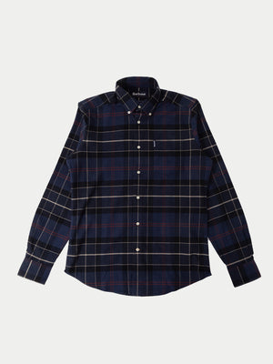 Barbour Lustleigh Shirt (Navy Marl Tartan) 1