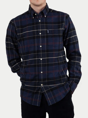 Barbour Lustleigh Shirt (Navy Marl Tartan) m1