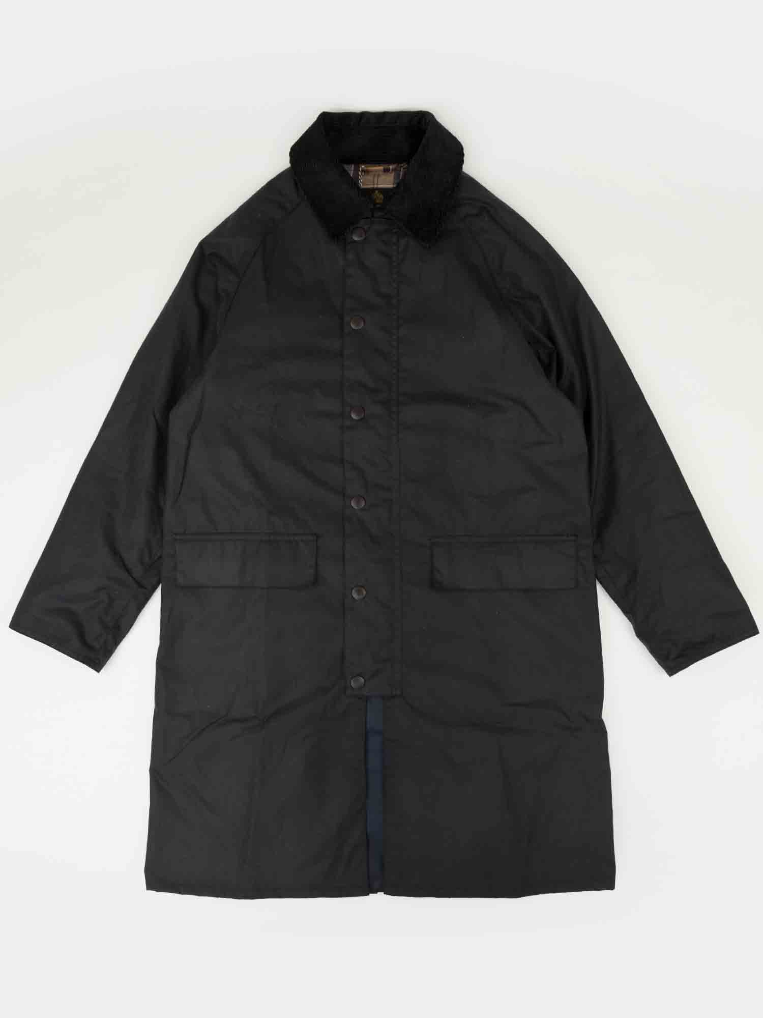 Barbour New Burghley Wax Jacket (Navy)