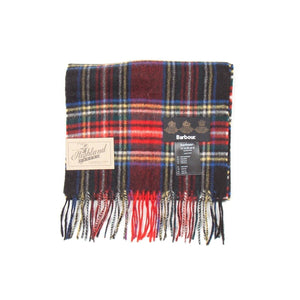 Barbour New Check Tartan Scarf (Black Stewart) 1