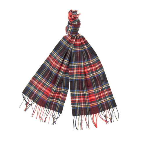 Barbour New Check Tartan Scarf (Black Stewart) 2