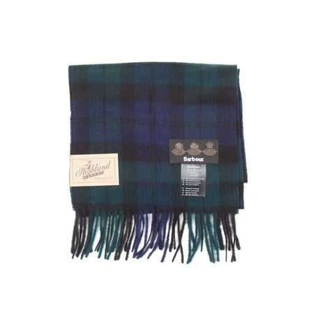 Barbour New Check Tartan Scarf (Black Watch)