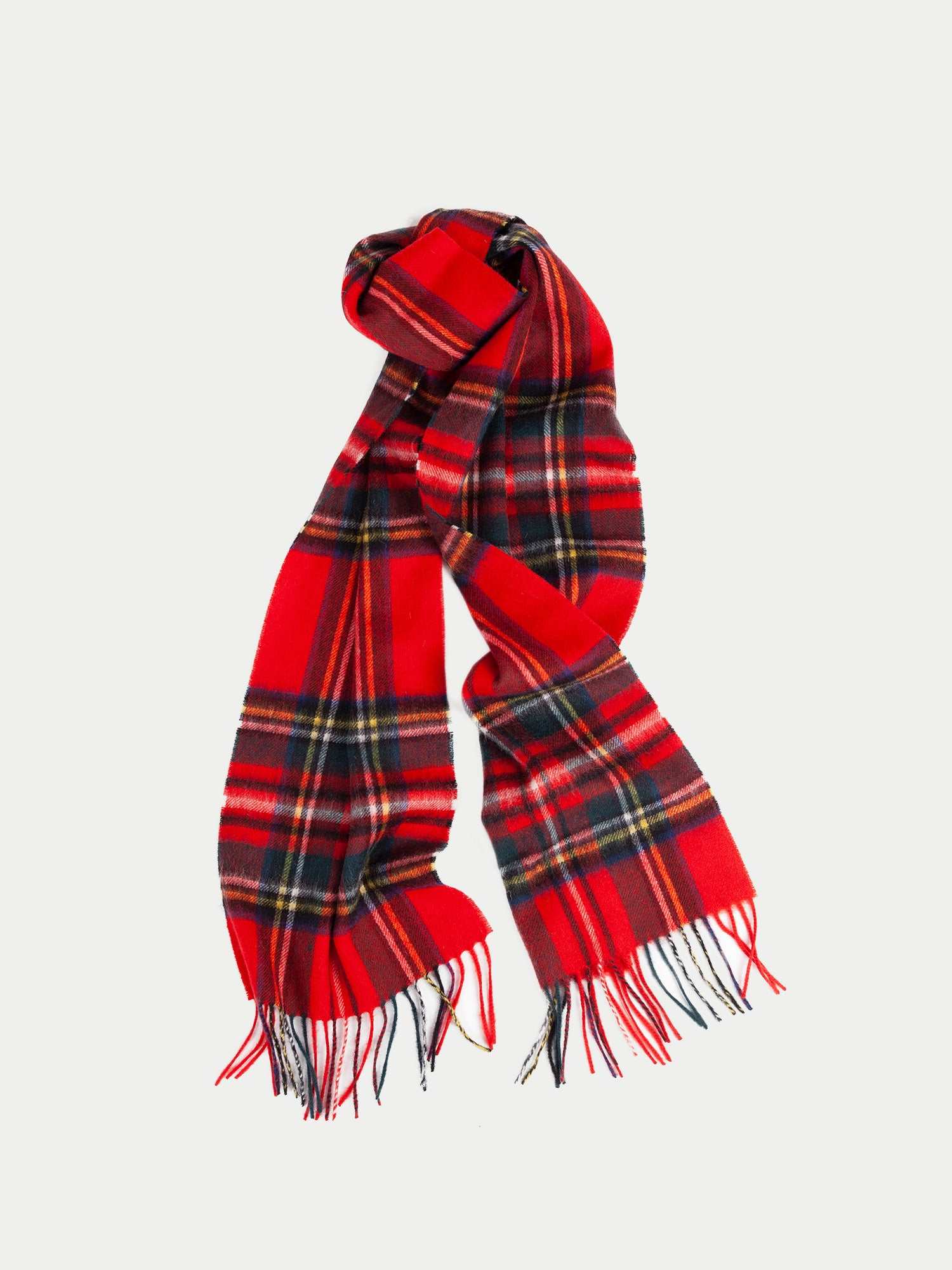 Barbour New Check Tartan Scarf (Royal) f1
