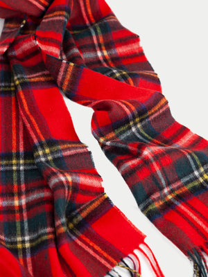 Barbour New Check Tartan Scarf (Royal) f2