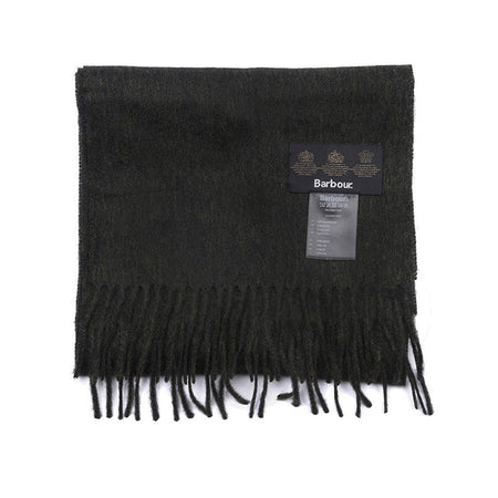 Barbour Plain Lambswool Scarf (Black)
