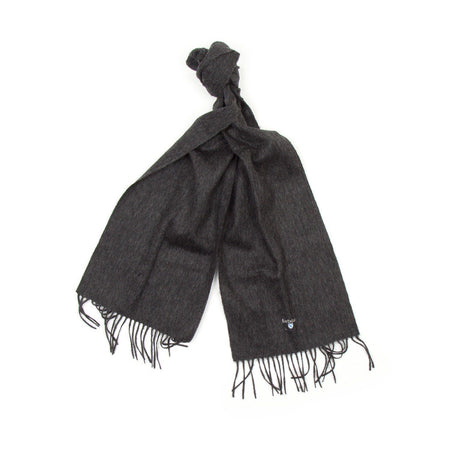 Barbour Plain Lambswool Scarf (Charcoal Grey)