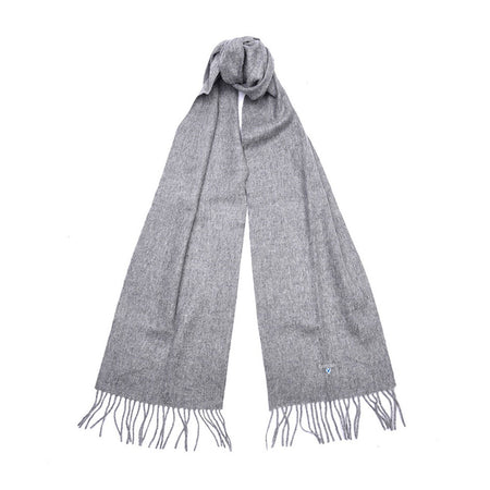 Barbour Plain Lambswool Scarf (Light Grey Marl)