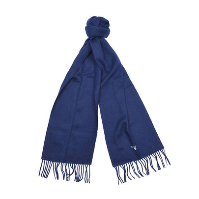 Barbour Plain Lambswool Scarf (Navy) 2