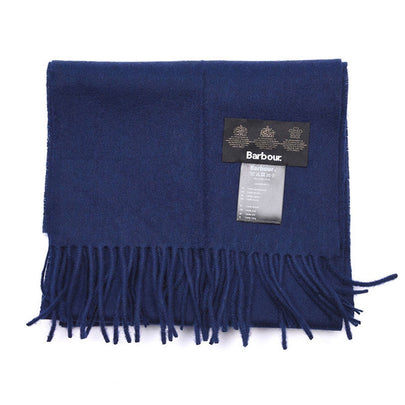 Barbour Plain Lambswool Scarf (Navy) 1