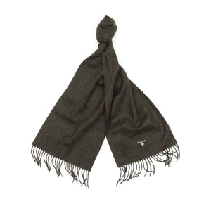 Barbour Plain Lambswool Scarf (Seaweed) 2