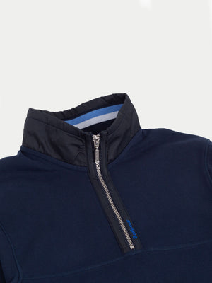 Barbour Seward Half Zip Jumper (Navy) 2
