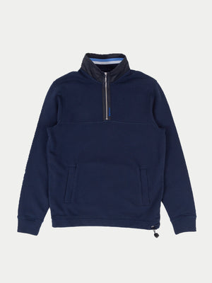 Barbour Seward Half Zip Jumper (Navy) 1