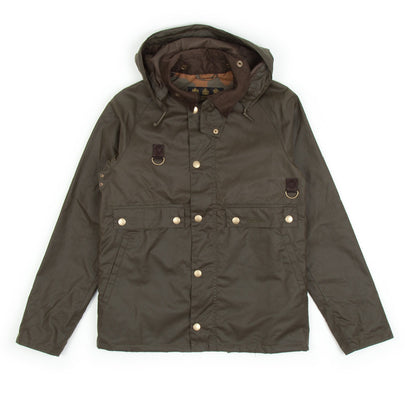 Barbour Speyside Wax Jacket (Archive Olive)-2
