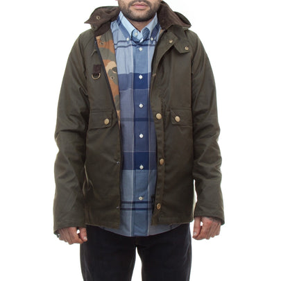 Barbour Speyside Wax Jacket (Archive Olive)-1