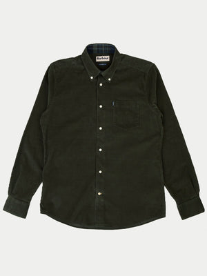 Barbour Stapleton Morris Cord Shirt (Forest)