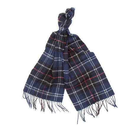 Barbour Tartan Lambswool Scarf (Navy & Red) 2