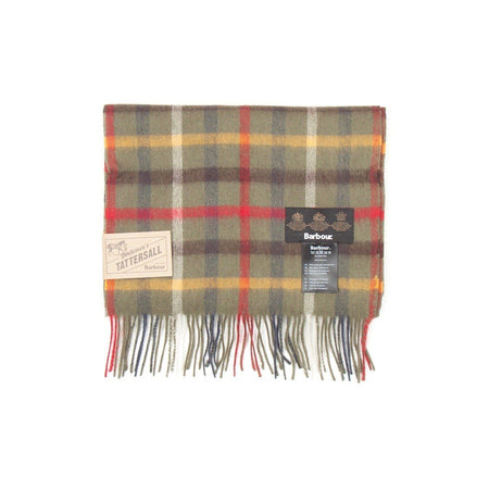 Barbour Tattersall Lambswool Scarf (Olive)