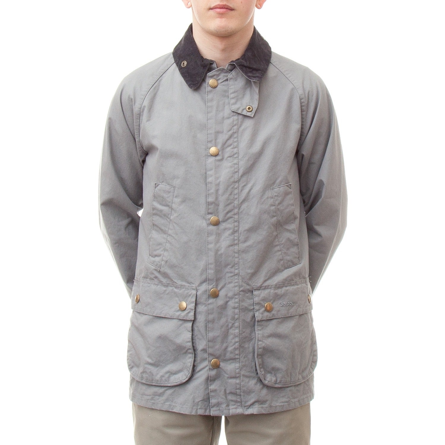 Barbour Washed Bedale Jacket (Grey)-4