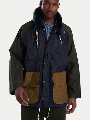 Barbour x Hikerdelic Pitt Wax Jacket (Royal Navy) 1